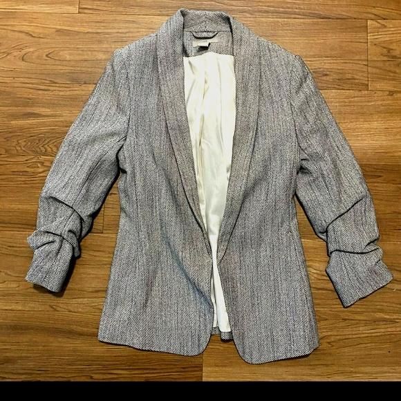 Tweed Open Front Blazer